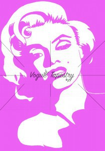 Marilyn Monroe gobelin